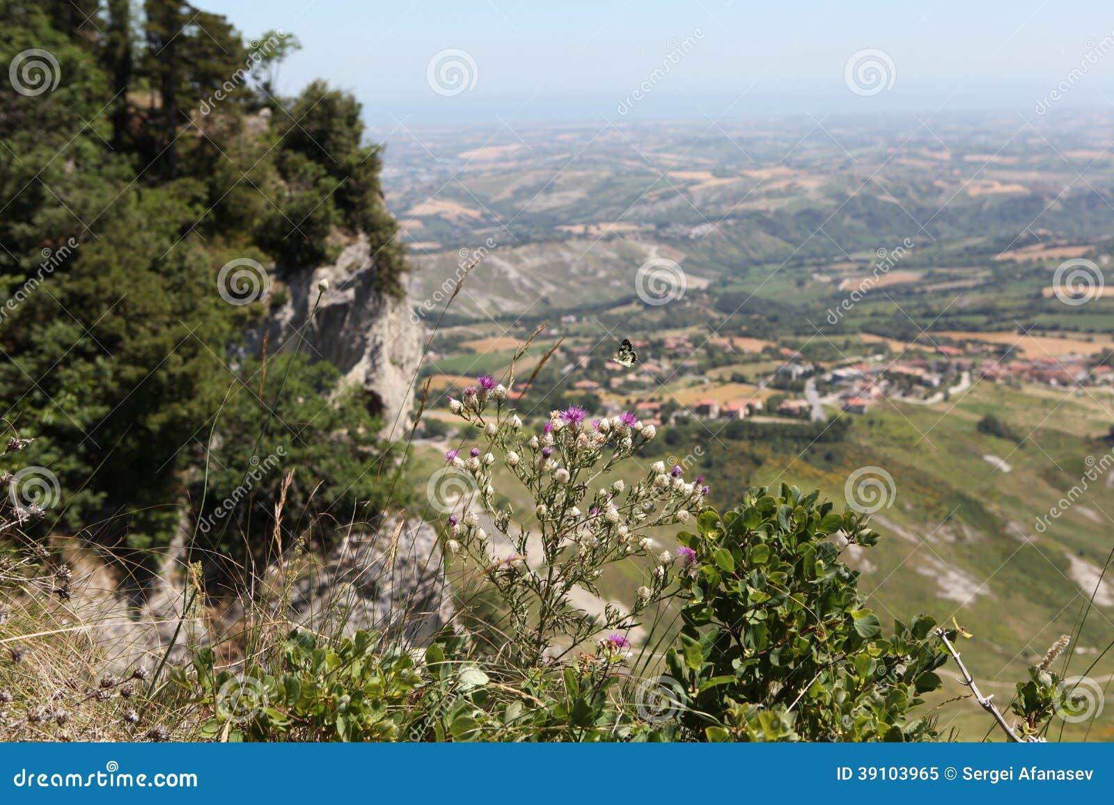 San Marino.Na zet Titano op