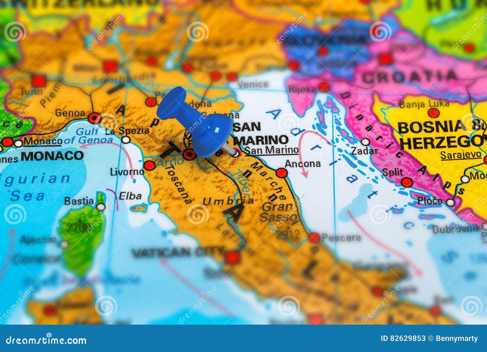 San Marino Mapa Europa.San Marino Wlochy Mapa Obraz Stock Obraz Zlozonej Z Kultura