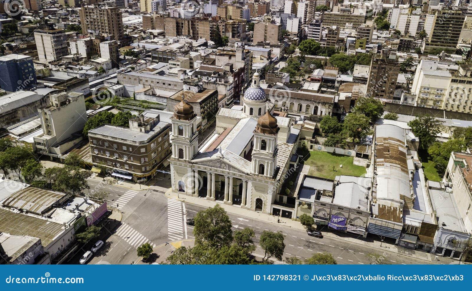 SAN Miguel de Tucumà ¡ n/Tucumà ¡ n/Argentina - 01 01 19: Καθεδρικός ναός της κυρίας μας της ενσάρκωσης, SAN Miguel de Tucumà ¡ ν