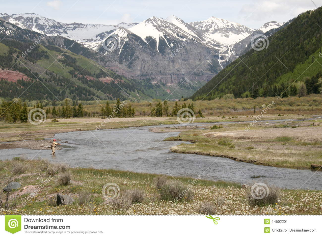 San miguel river fisherman stock image image 14502201 for Telluride fly fishing