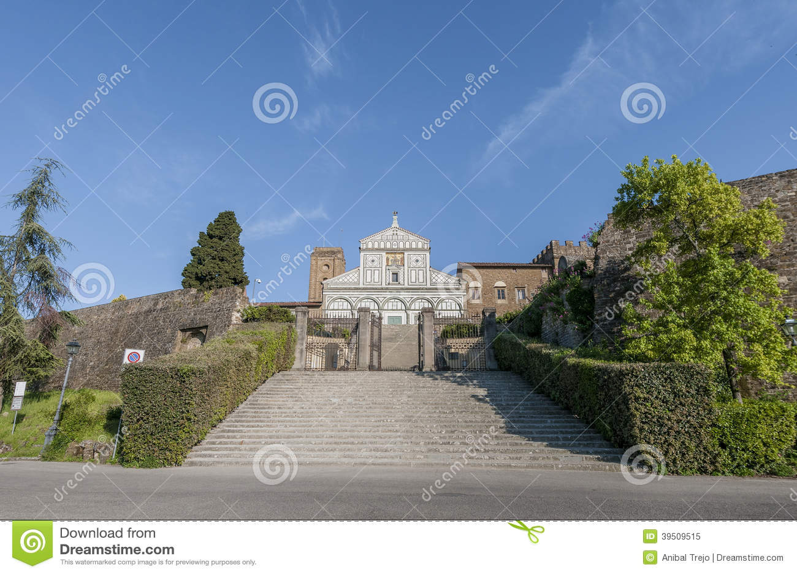 San Miniato al Monte basilica in Florence, Italy.