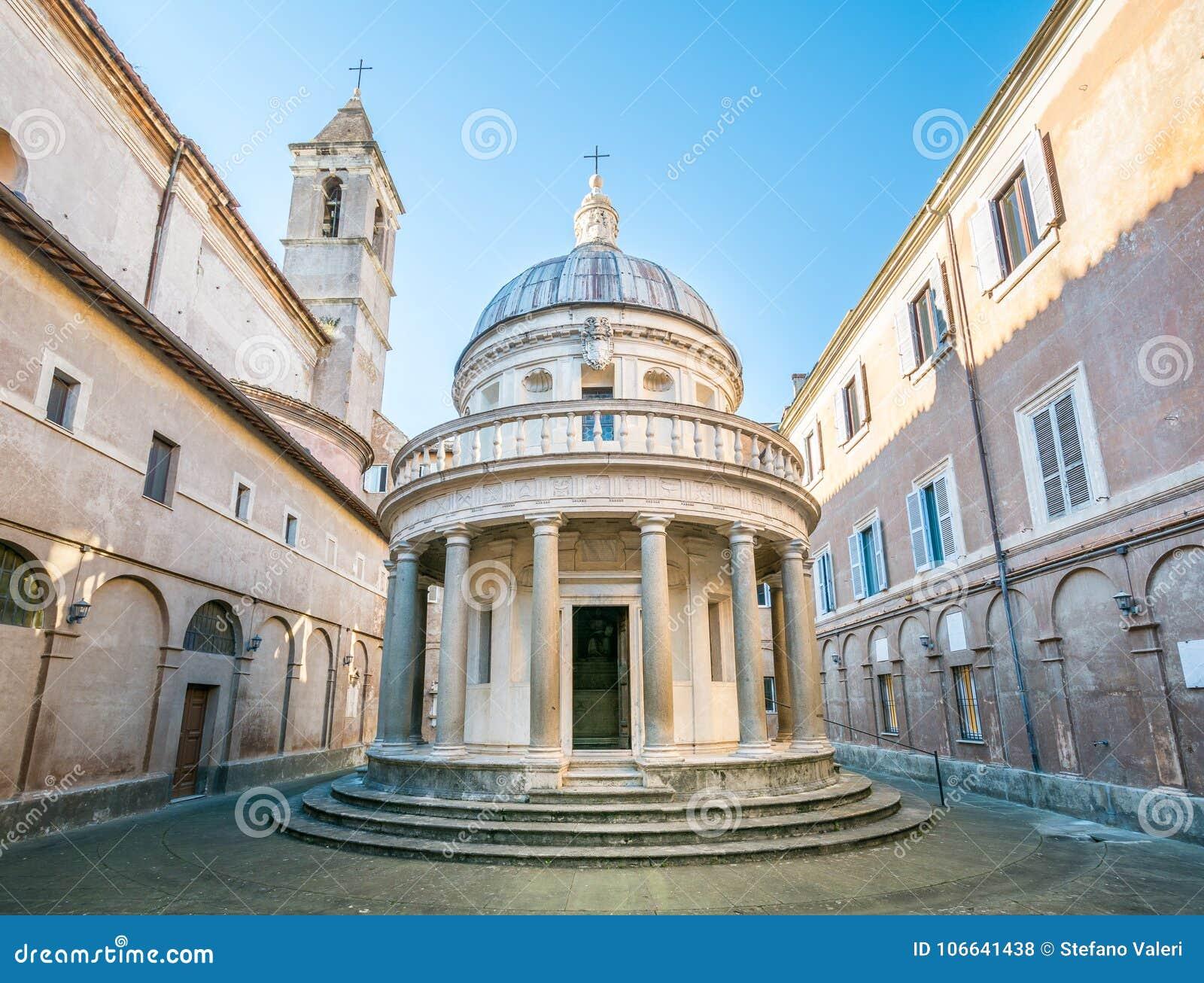 Bramante`s Tempietto, San Pietro in Montorio, Rome.