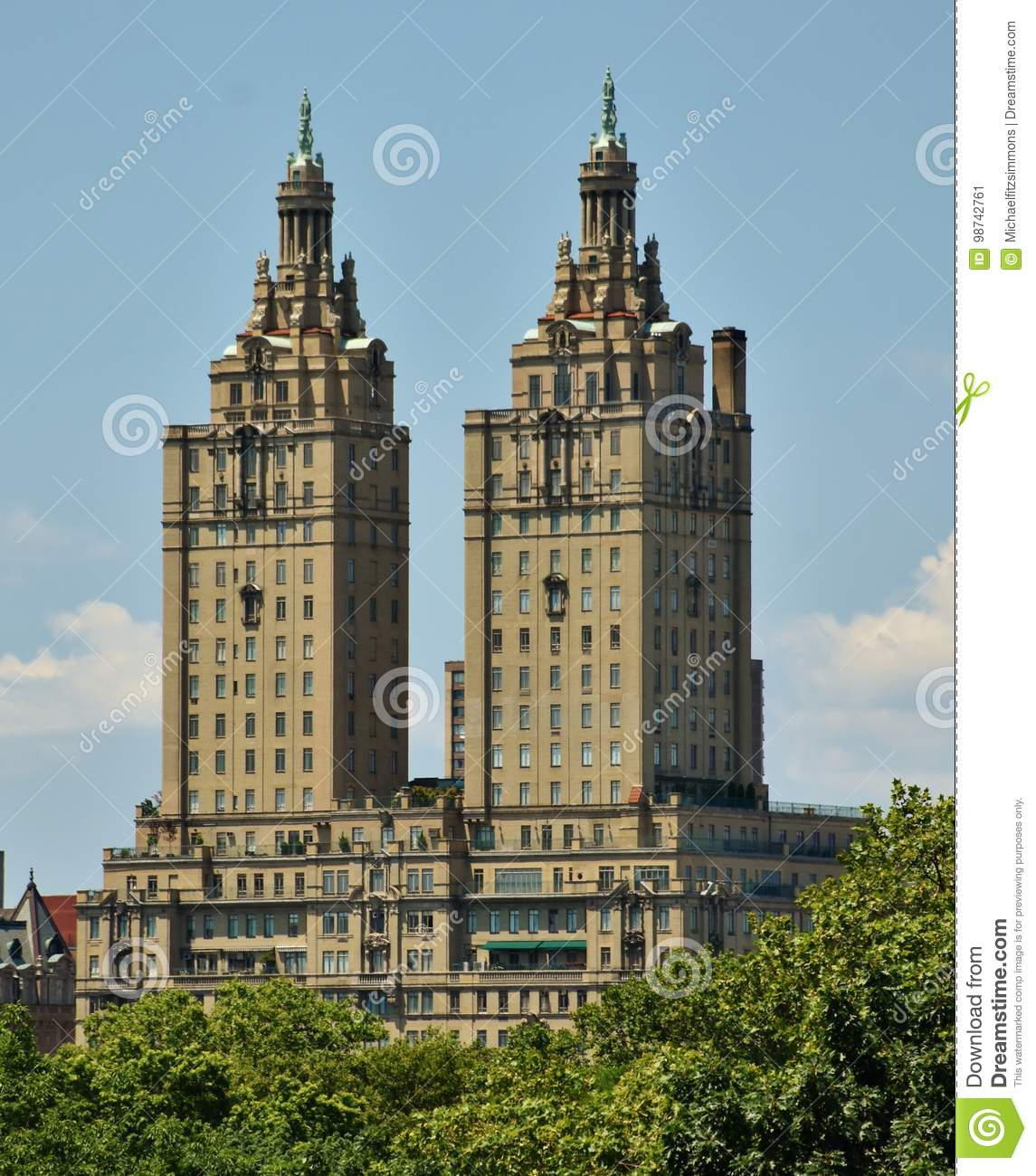 San Remo Towers In Central Park Editorial Photo