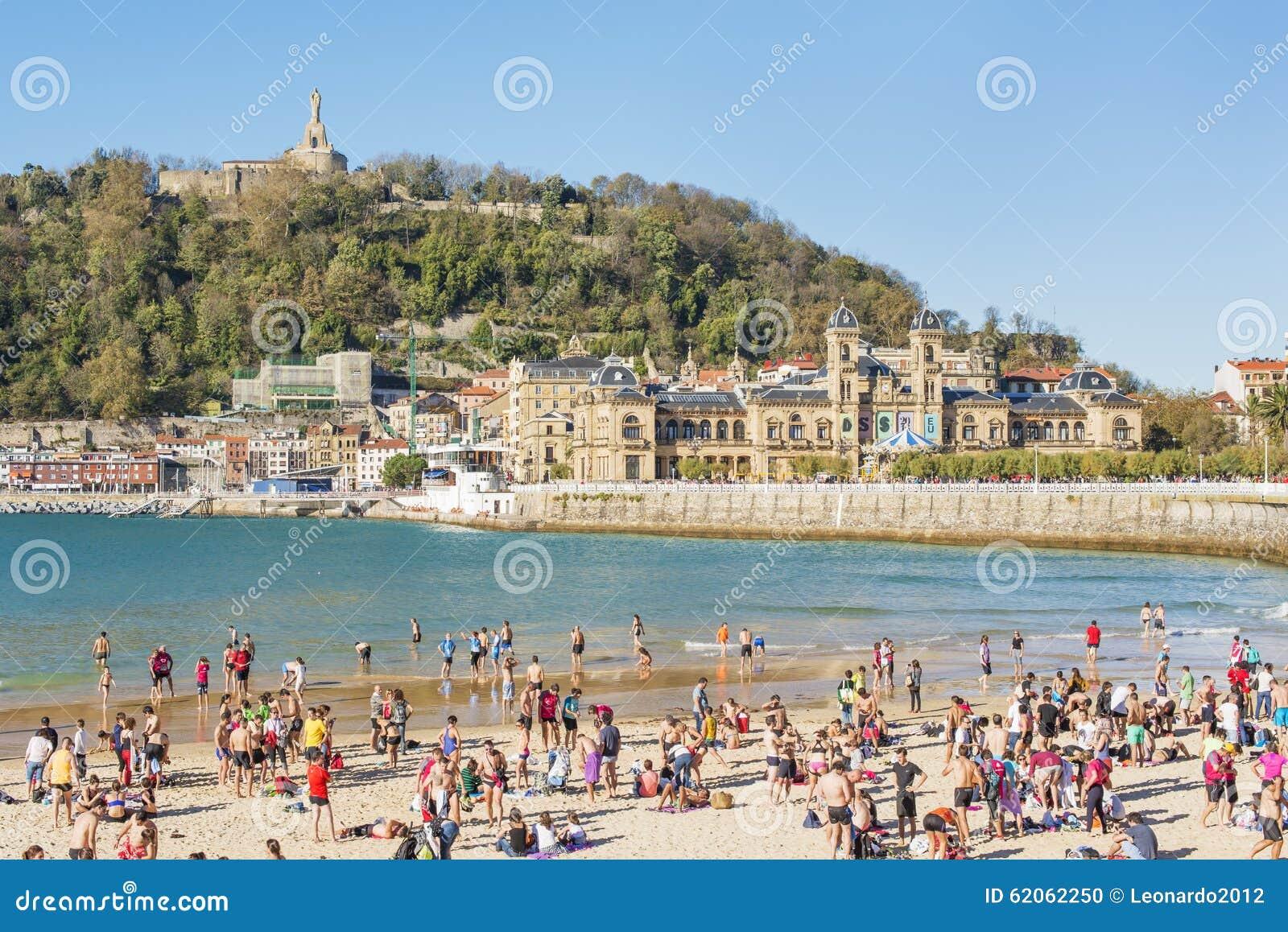 Download San Sebastian, Donostia, Gipuzkoa, Basque Country, Spain-Novembe Editorial Image - Image of guipuzkoa, people: 62062250