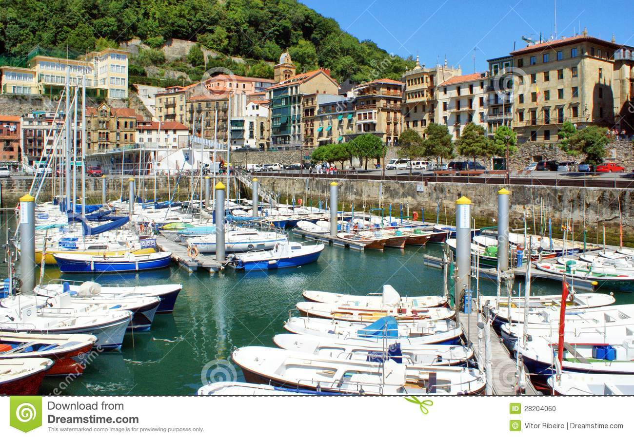 San Sebastian (Donostia) Harbour Stock Photo - Image: 28204060