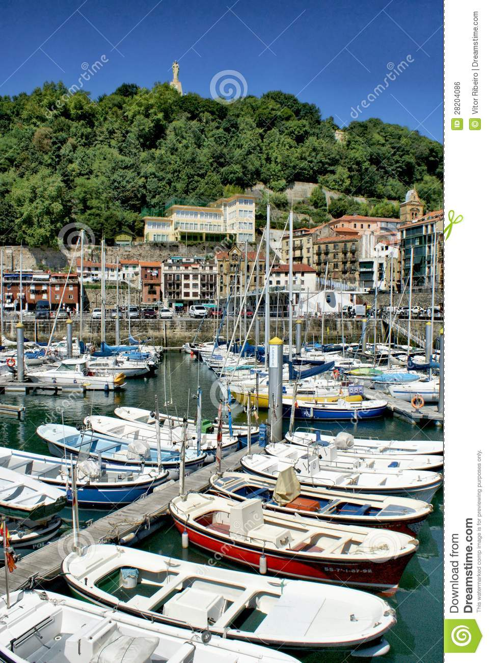 Download San Sebastian (Donostia) Harbour Stock Photo - Image of ocean, gipuzkoa: 28204086