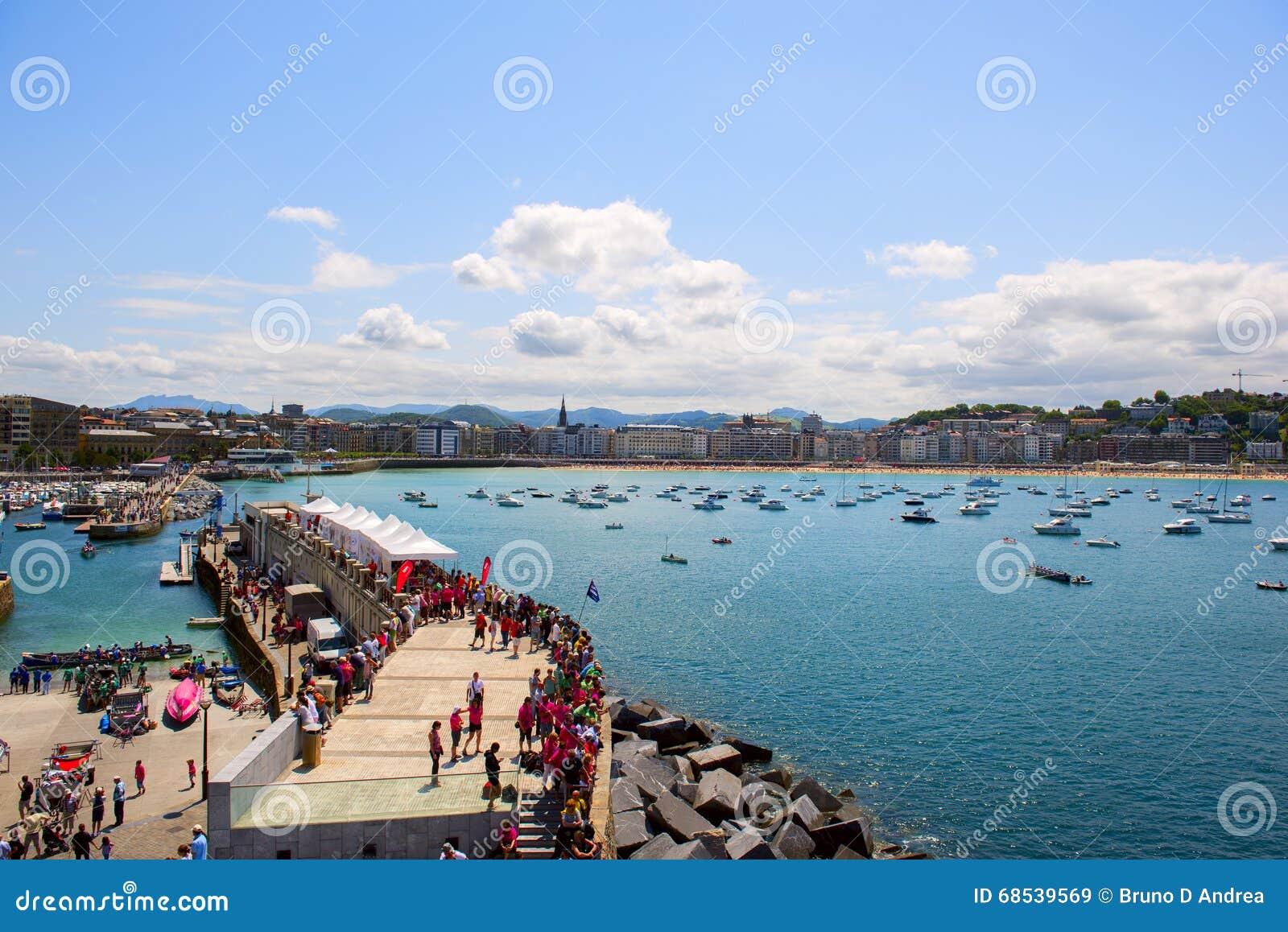 SAN SEBASTIAN, SPAIN JULY 12, 2015, view of the beach