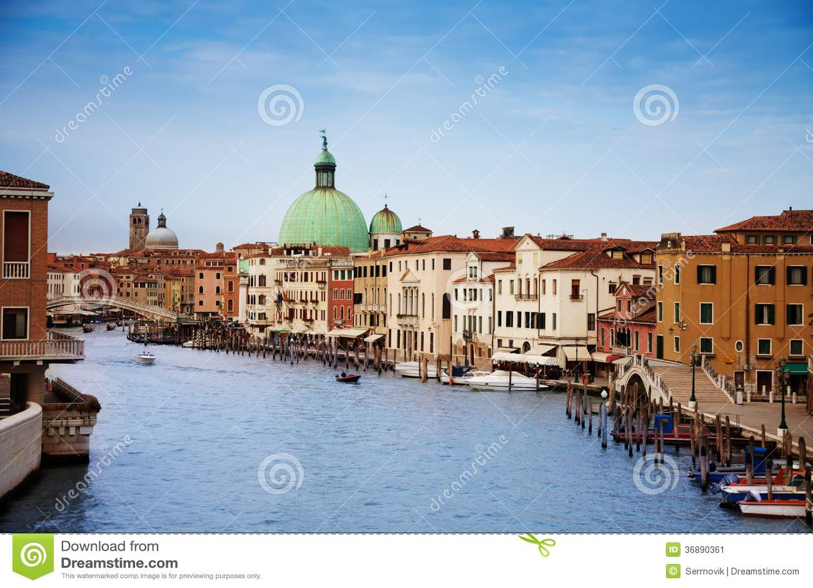 Download San Simeone Piccolo immagine stock. Immagine di gondola - 36890361
