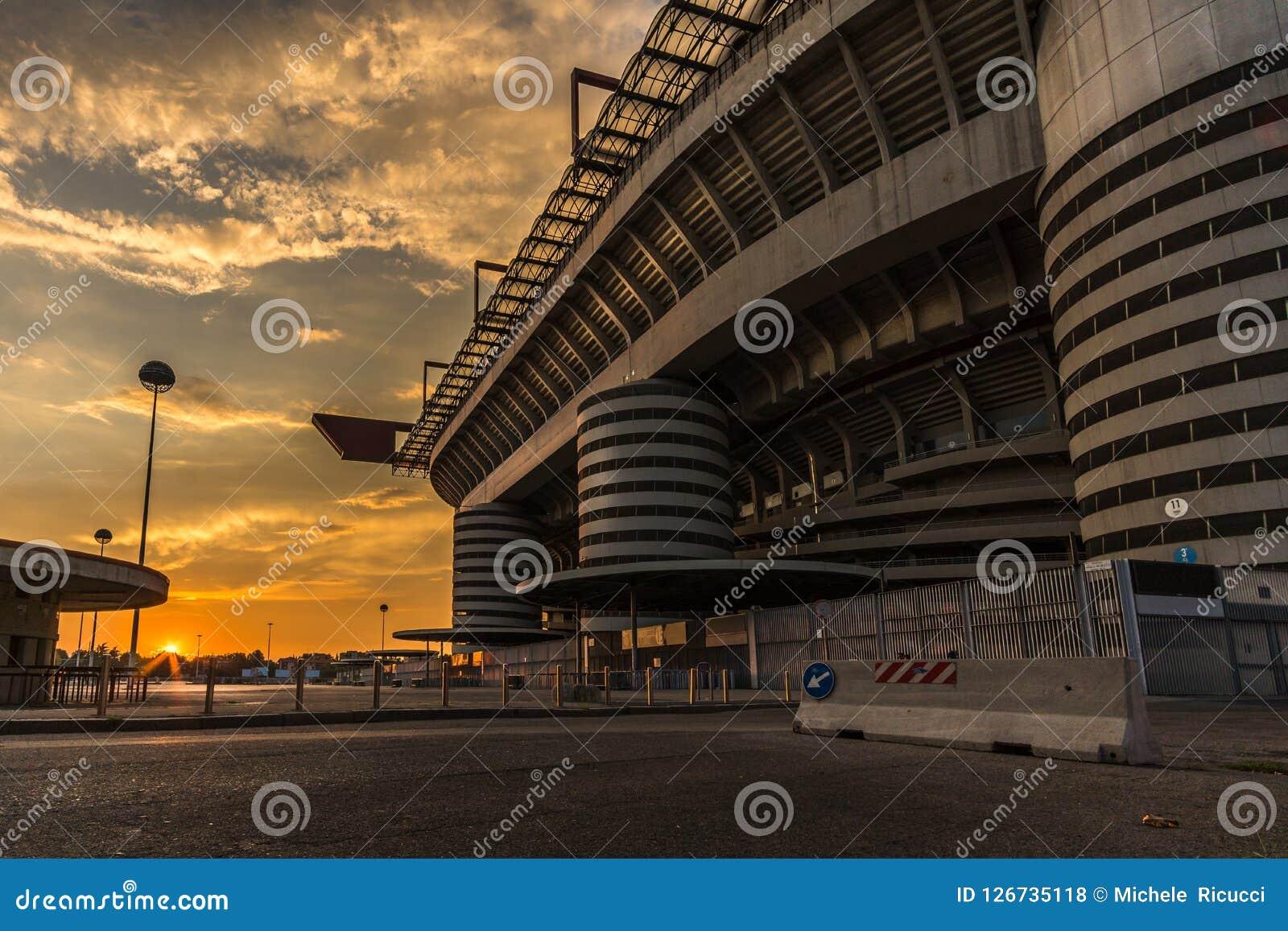 San Siro Stadion von Mailand- und Kartenofficet