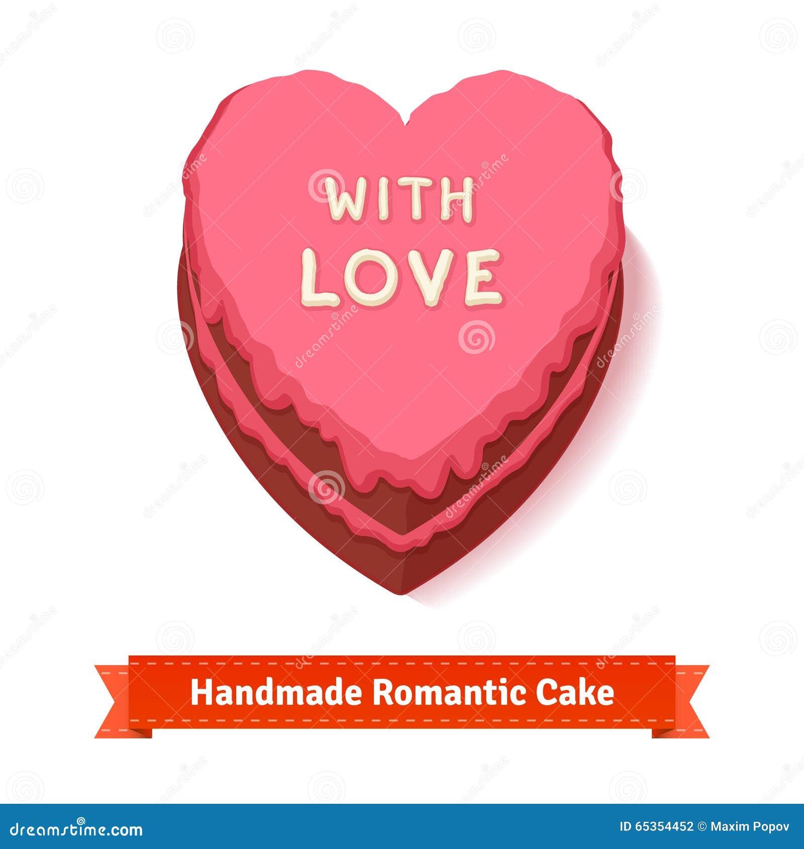 San Valentino Dolce A Forma Di Cuore Di Compleanno Illustrazione