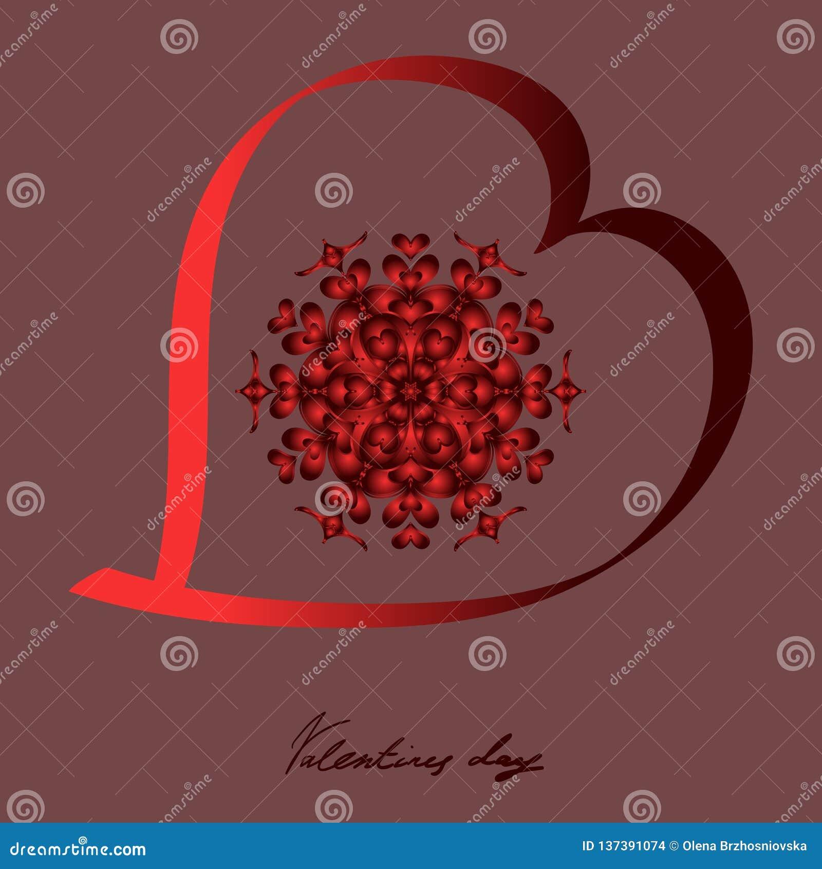 San Valentino felice, cartolina di vettore