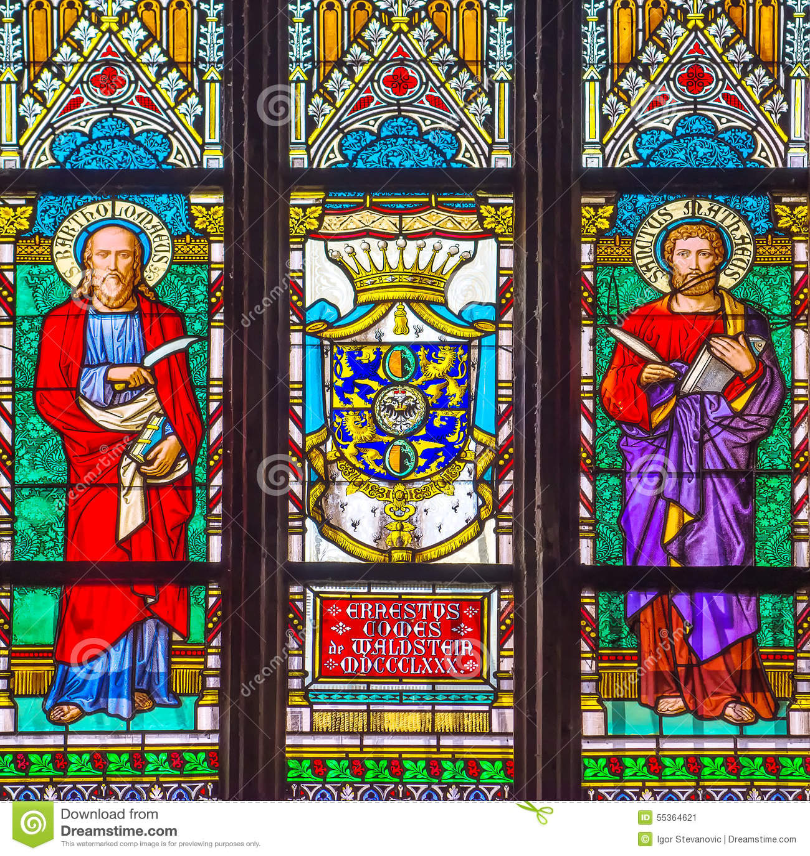 San Vitus Religious Vitrage Windows di Praga
