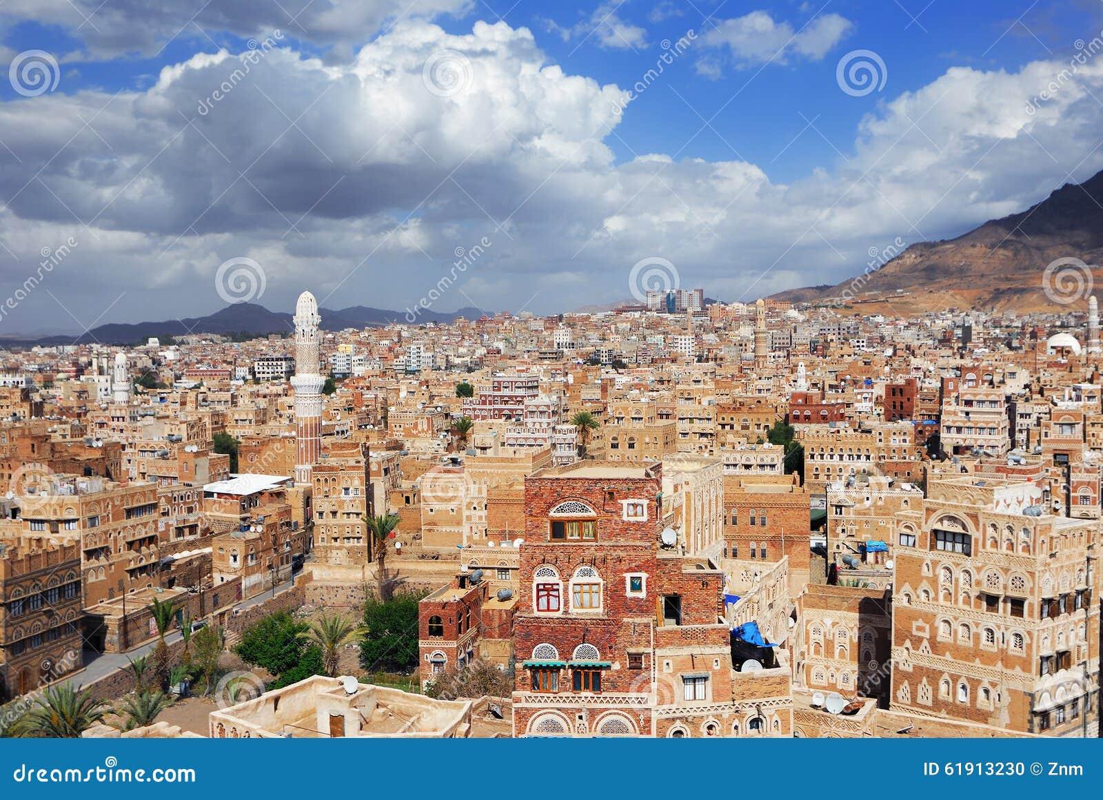 Sanaa The Capital Of Yemen Stock Photo - Image: 61913230