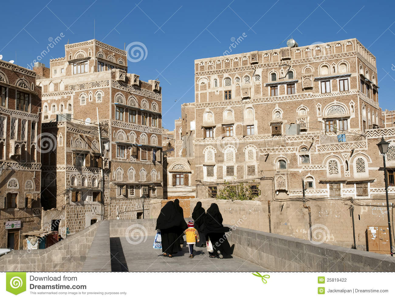 Sanaa old town in yemen traditional architecture editorial for Architecture yemen