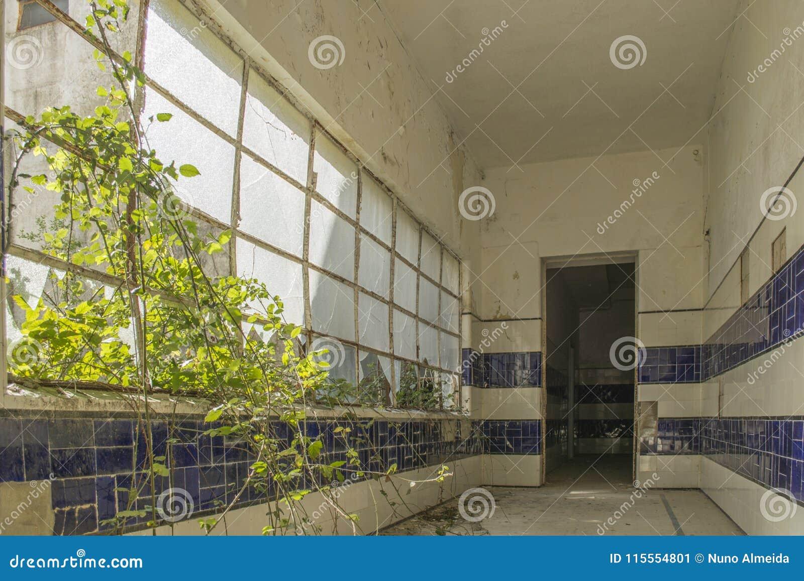 Sanatorio abandonado viejo en Portugal