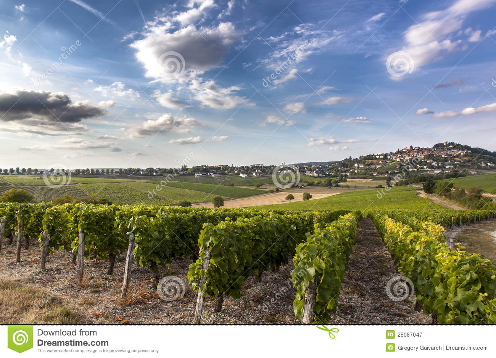 Sancerre w Bourgogne, Francja