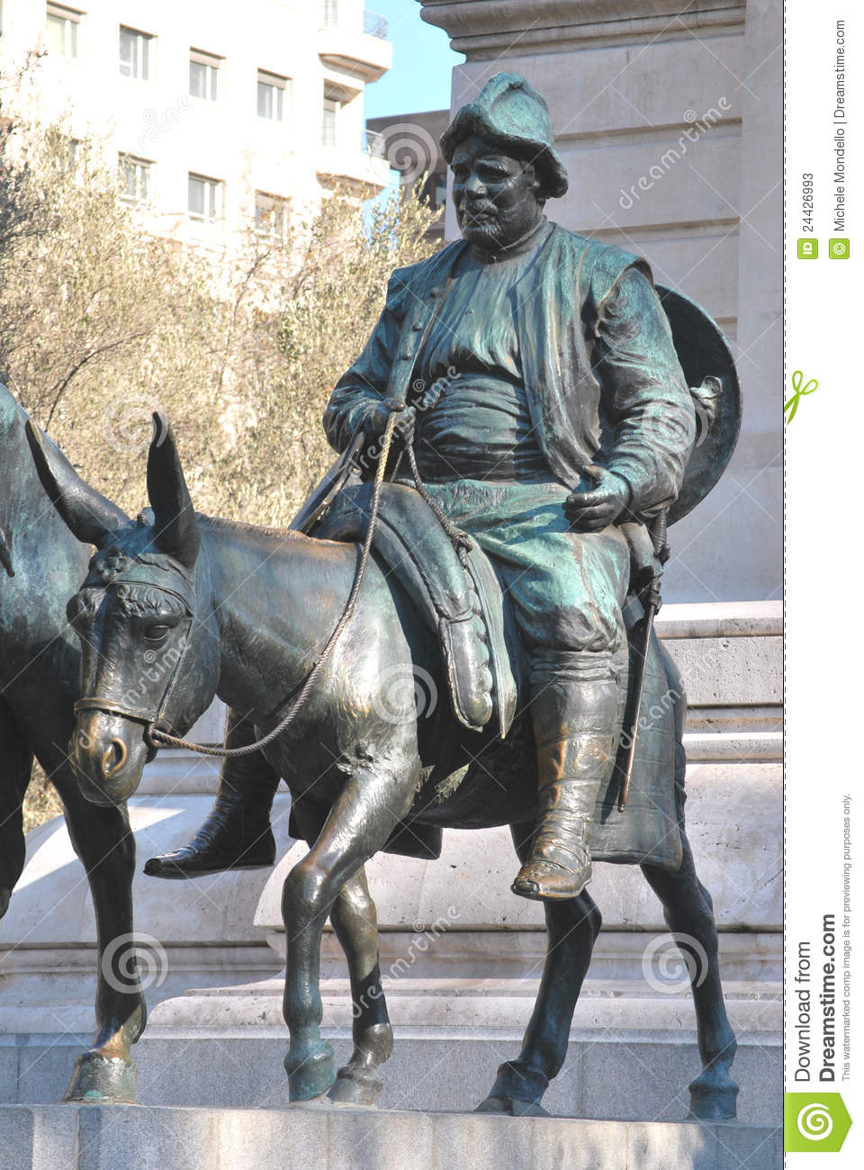 Download Sancho Panza, Madrid stock image. Image of stone, statue - 24426993