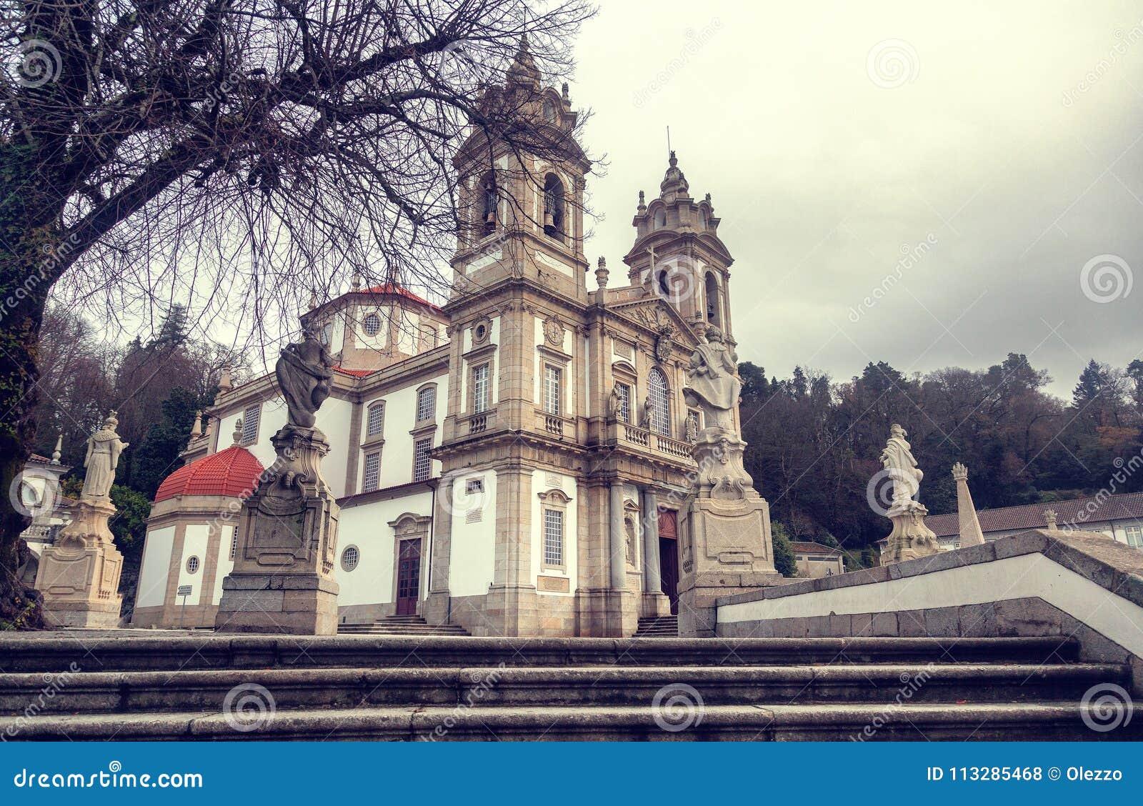 Sanctuary of Bom Jesus do Monte. Popular landmark and pilgrimage