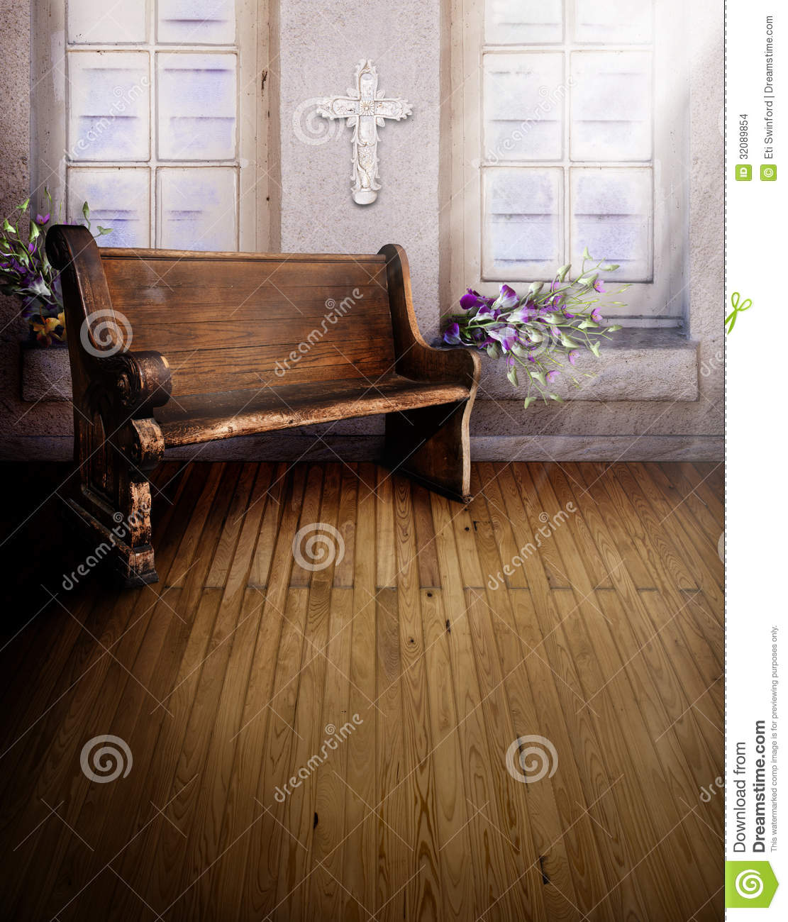 Sanctuary Church Pew Stock Images Image 32089854