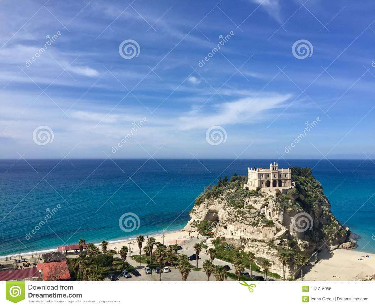Sanctuary of the Madonna of the Island of Tropea, italy