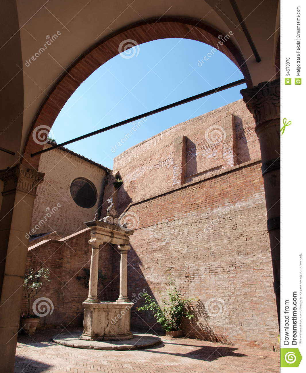 Sanctuary of st catherine siena italy stock photo for Catherines house