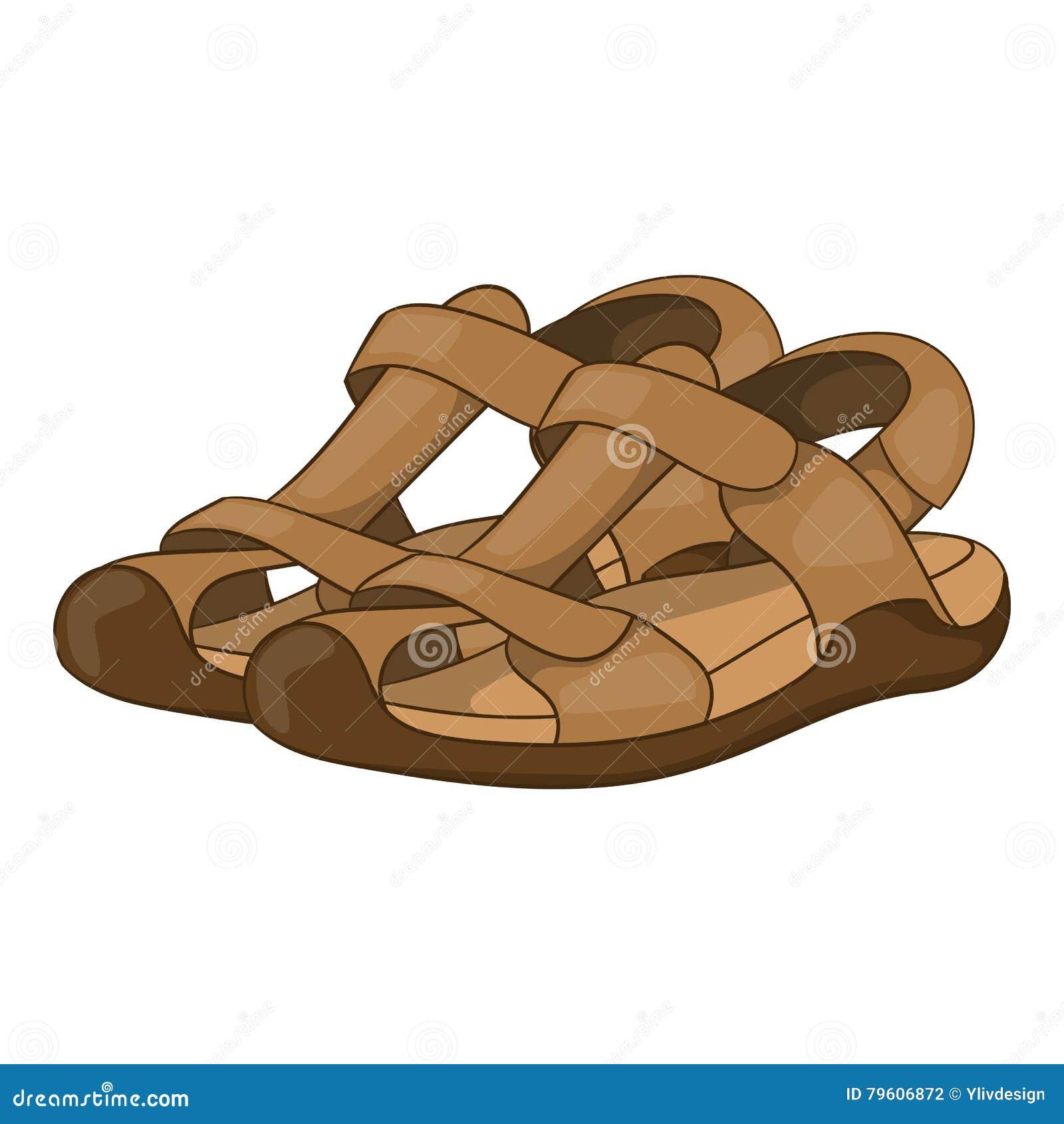 Sandálias ícone, estilo dos desenhos animados