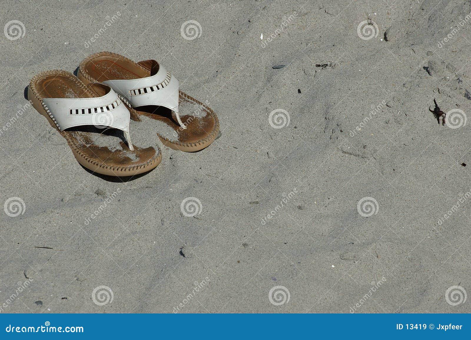 Sandálias da praia