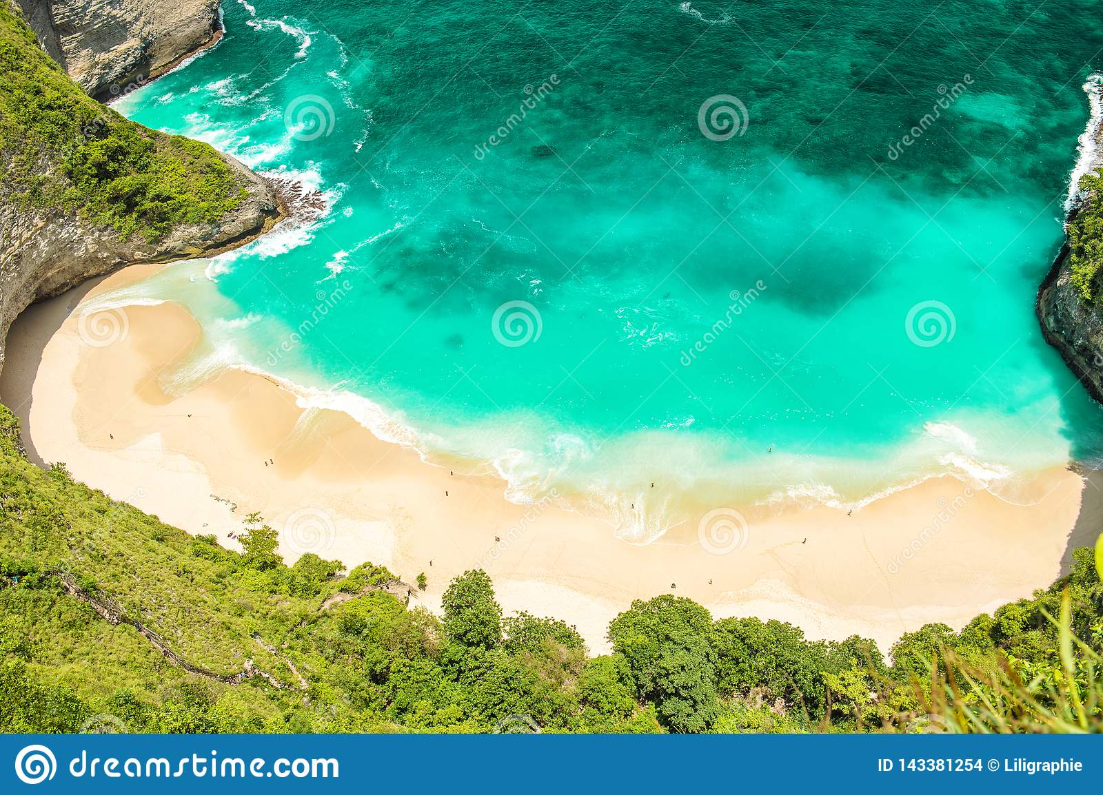 Sand beach sea water Summer holidays travel background Top view