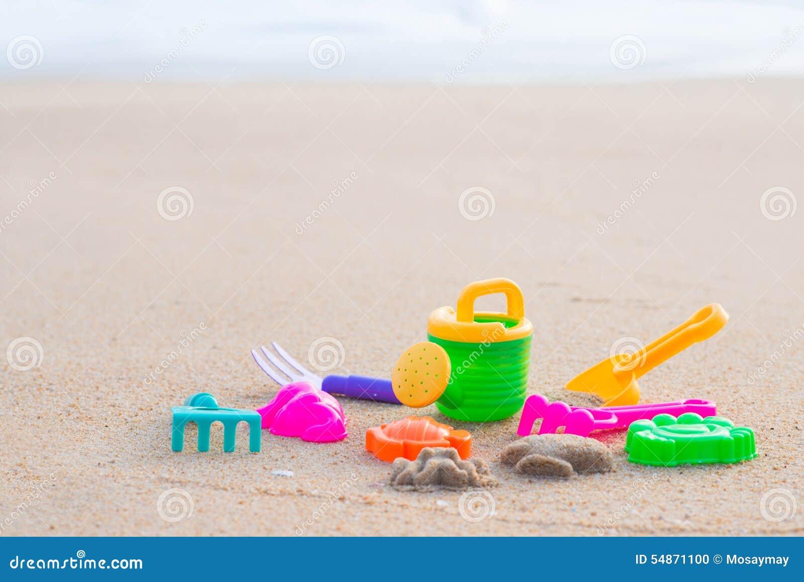 Download Sand Beach Toy Set For Kids Stock Photo - Image of rake, animal: 54871100