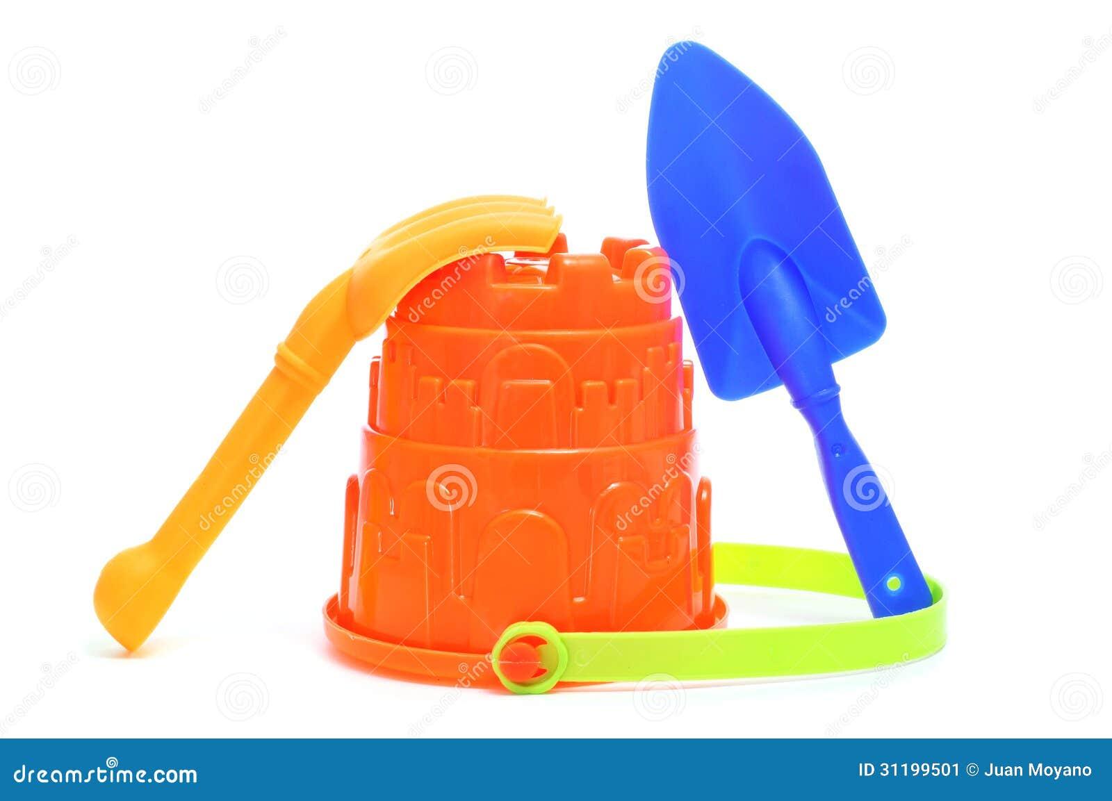 Sand / beach toy set: pail, shovel and rake