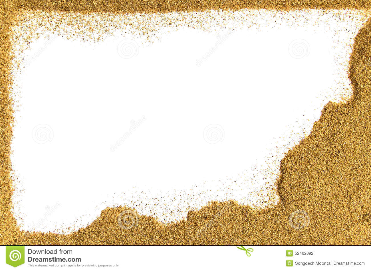 Sand Border Stock Photo - Image: 52402092