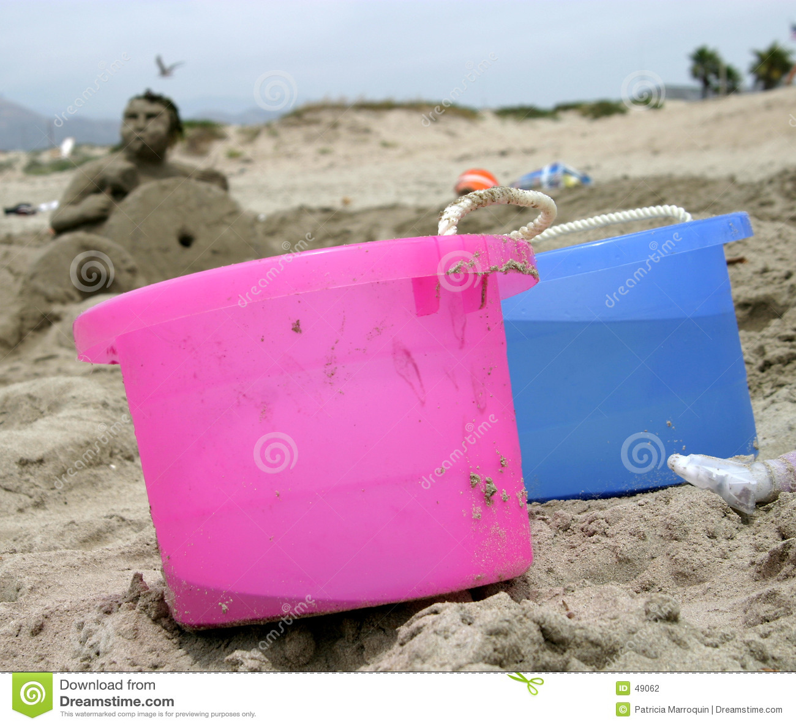 Download Sand Bucket Brigade stock photo. Image of pastel, ocean - 49062