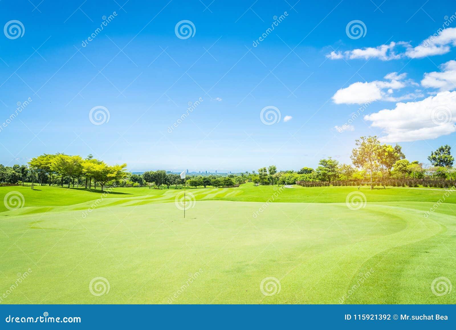 A green grass in Golf Course