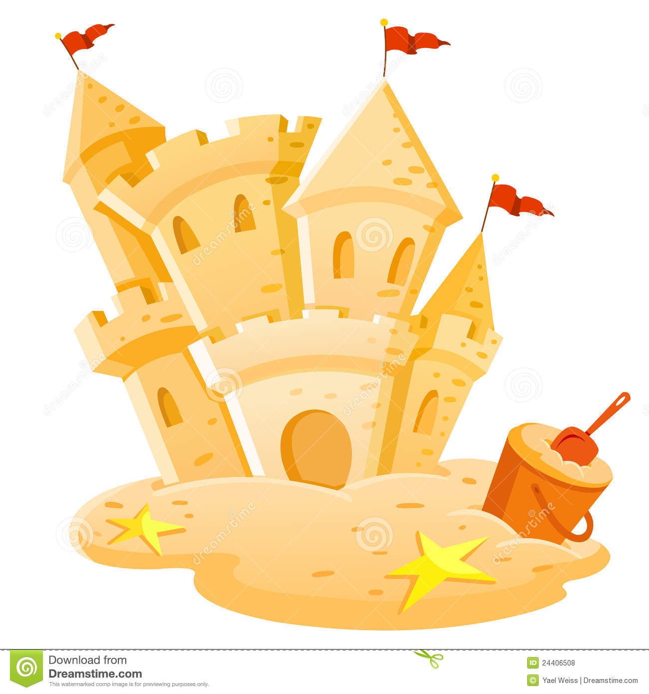 Sand Castle Royalty Free Stock Photos - Image: 24406508