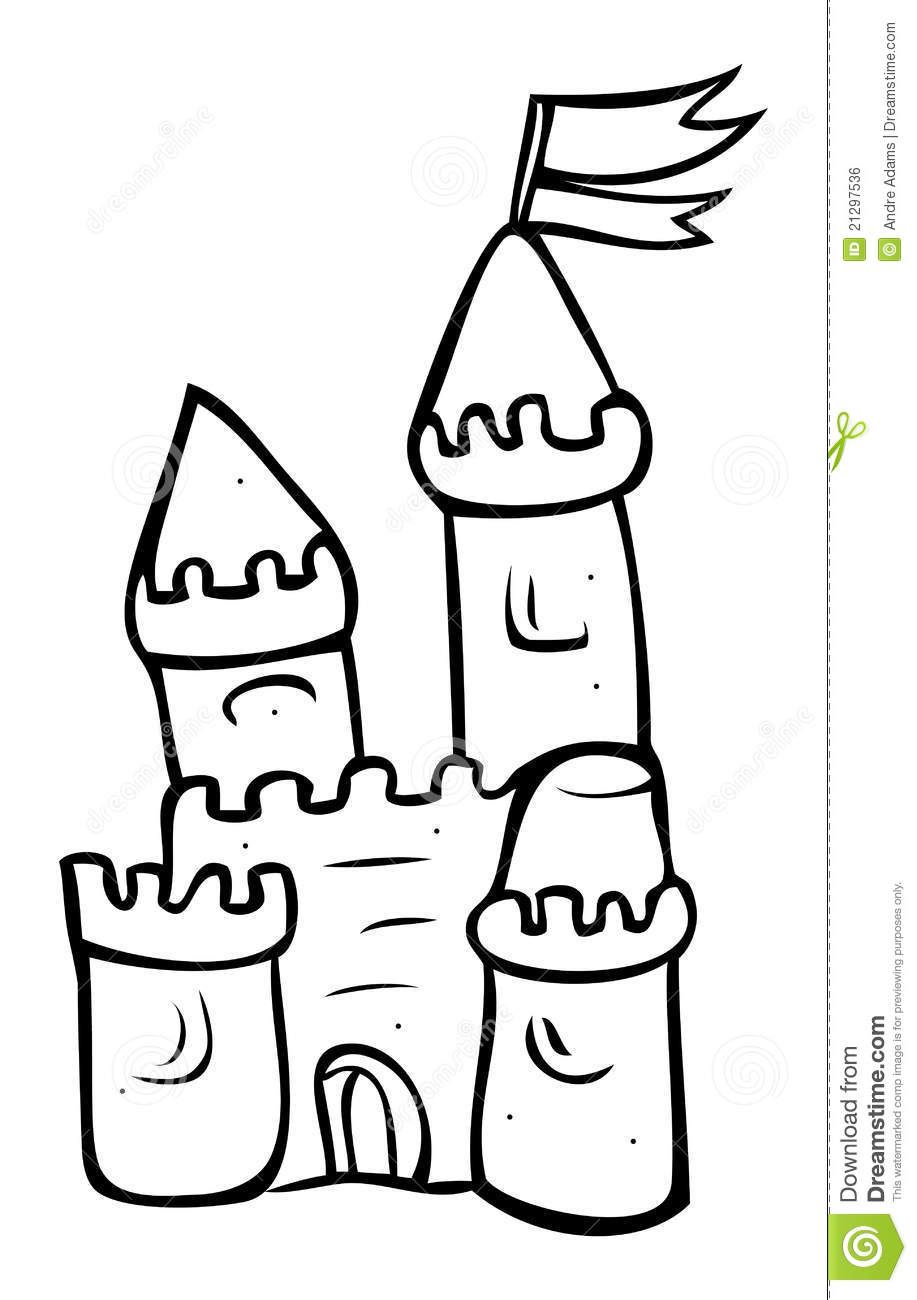 Sand Castle Outline Royalty Free Stock Image Image 21297536