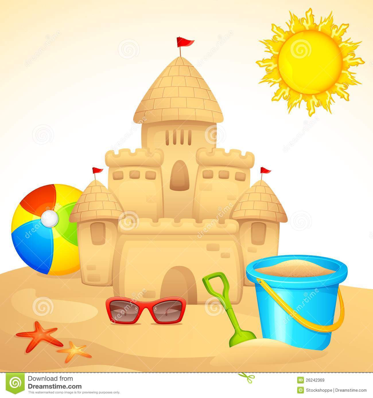 Sand Castle With Sandpit Kit Royalty Free Stock Images - Image ...