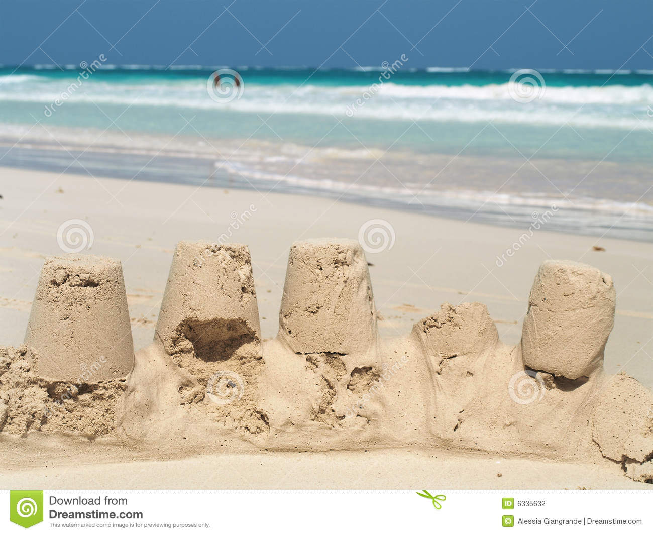 Download Sand castles stock photo. Image of beach, paradise, exotic - 6335632
