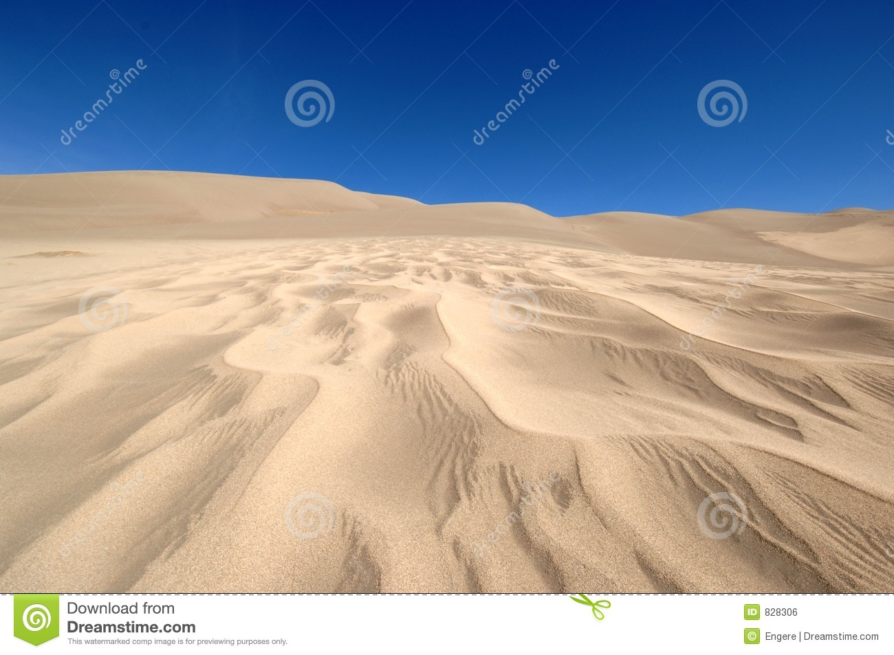 Sand and clear blue sky