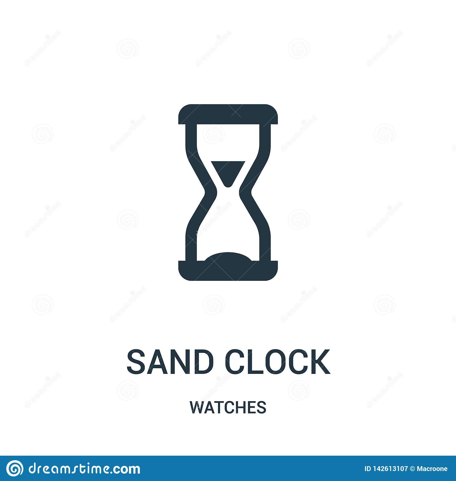 sand clock icon vector from watches collection. Thin line sand clock outline icon vector illustration. Linear symbol