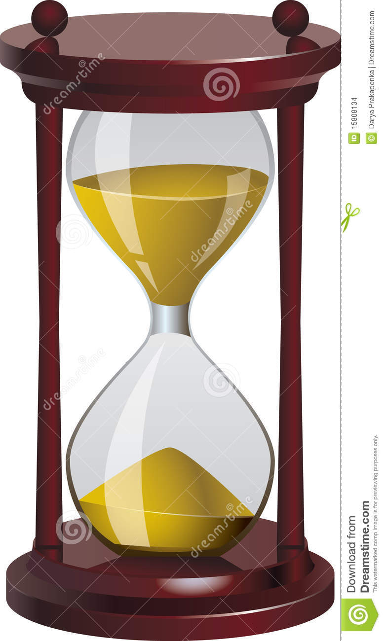 sand clock  vector illustration stock vector