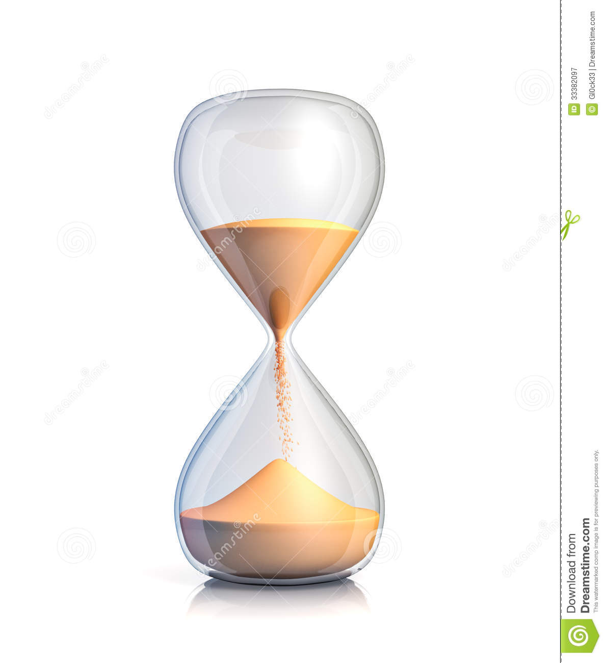 sand clock stock illustration  image of countdown  second