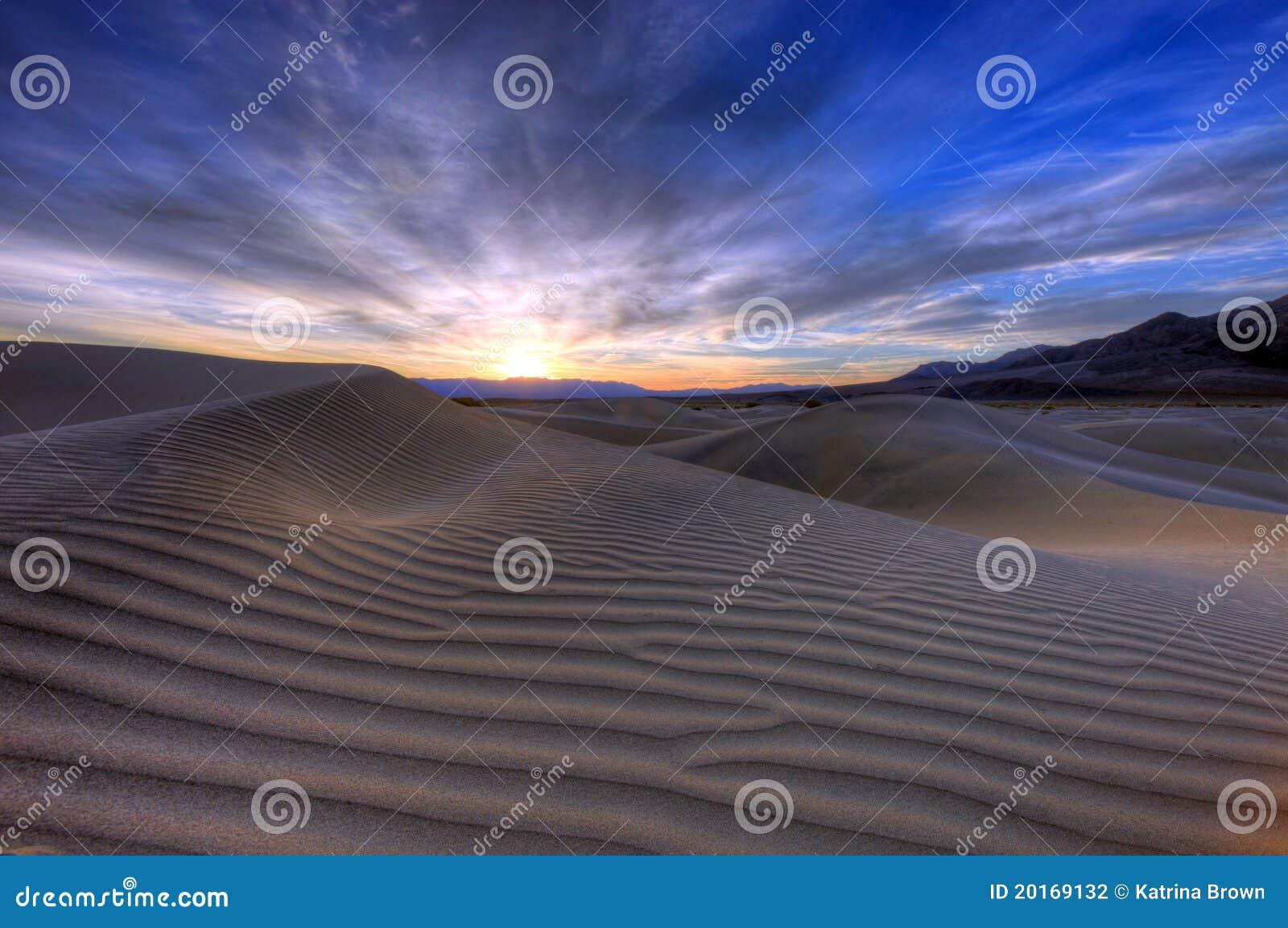 Sand Dune Landscape in Death Valley CA