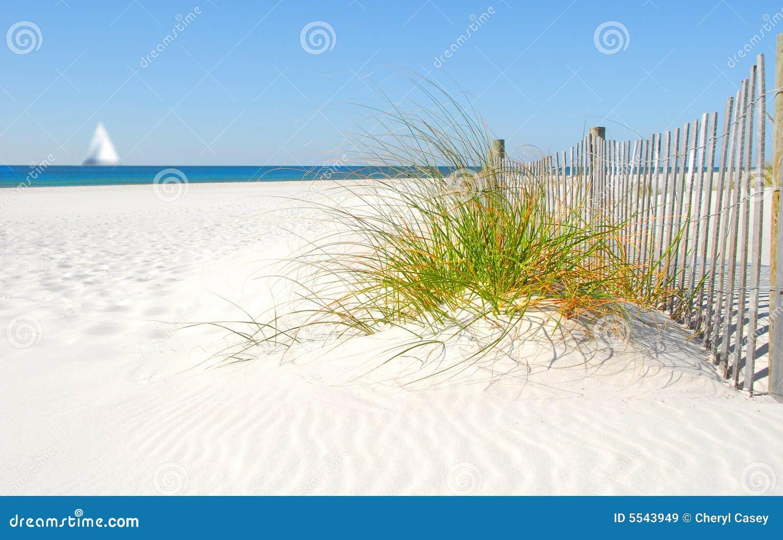 Sand för dynstaketsegelbåt