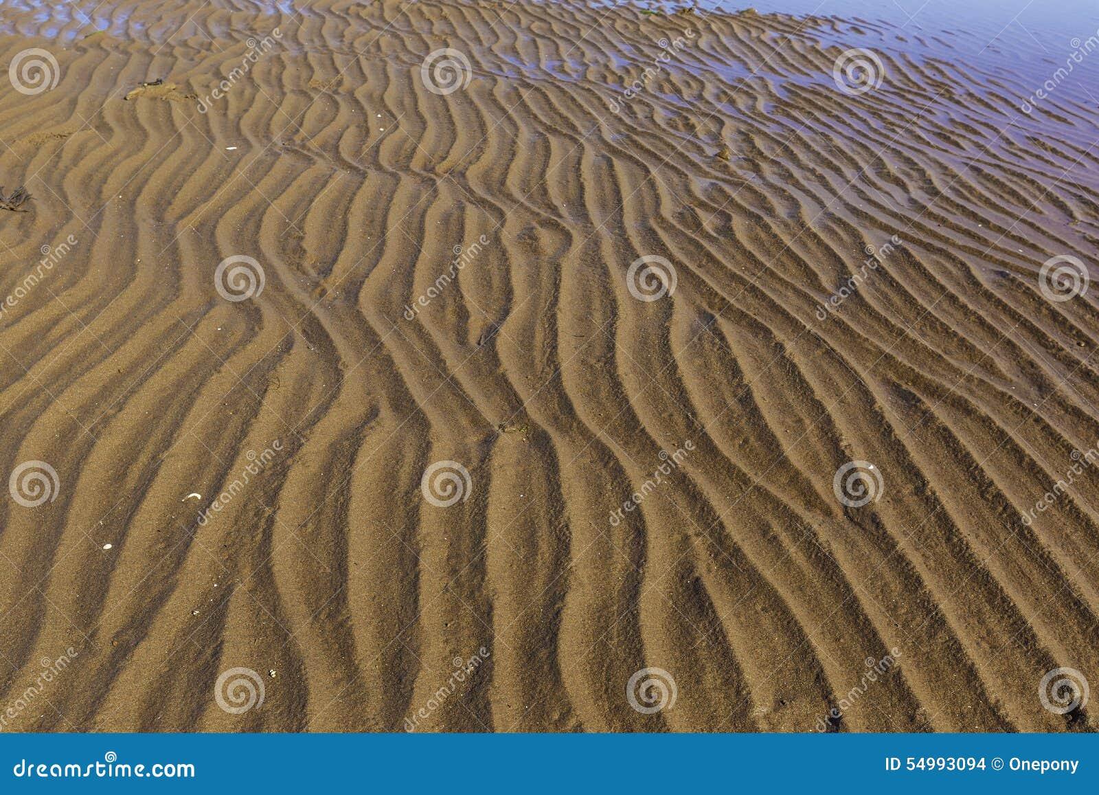 Sand för krusningar för closeupdynmodell röd