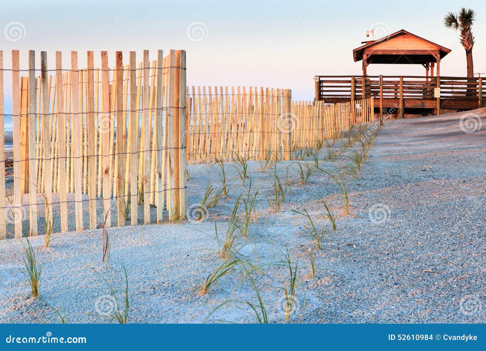 Sand fences and New Plants Folly Beach SC