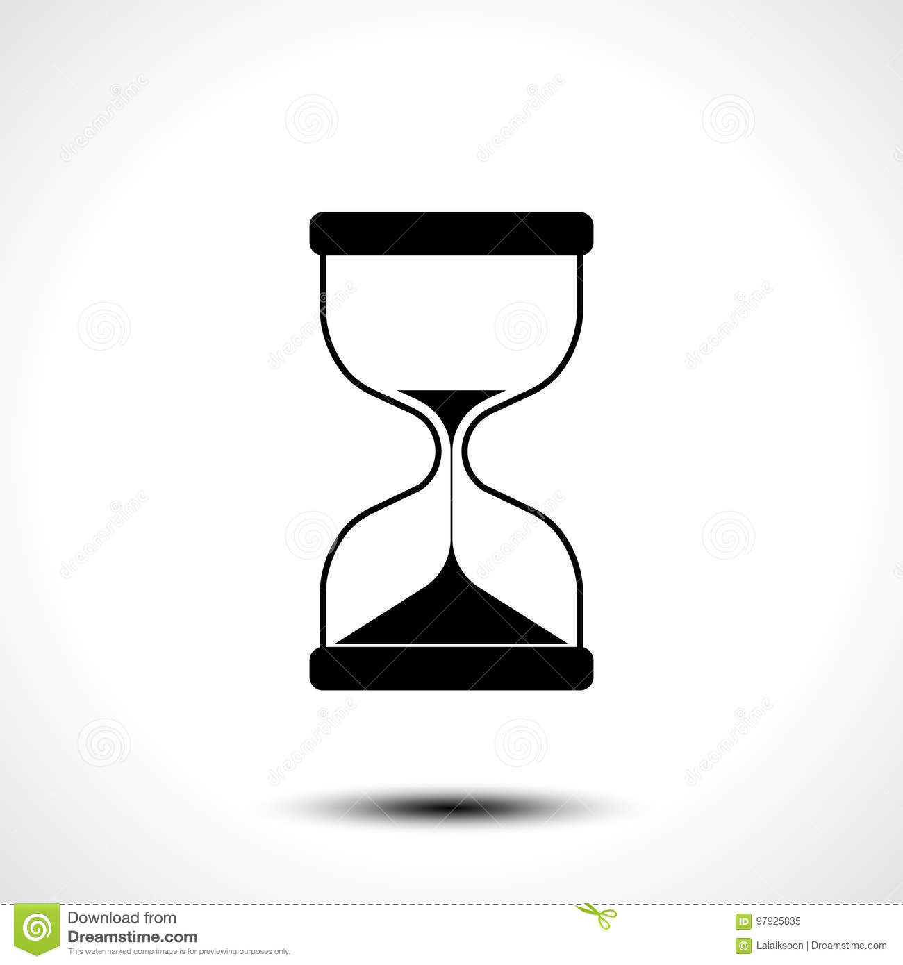 Sand hourglass icon isolated on white background