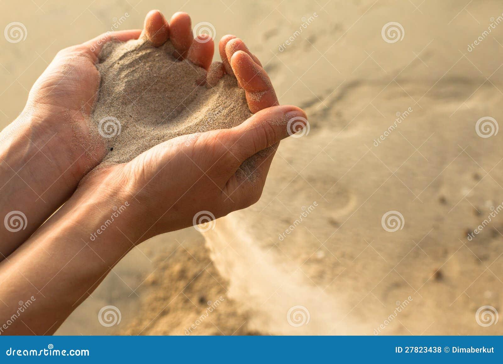 Sand och fingrar