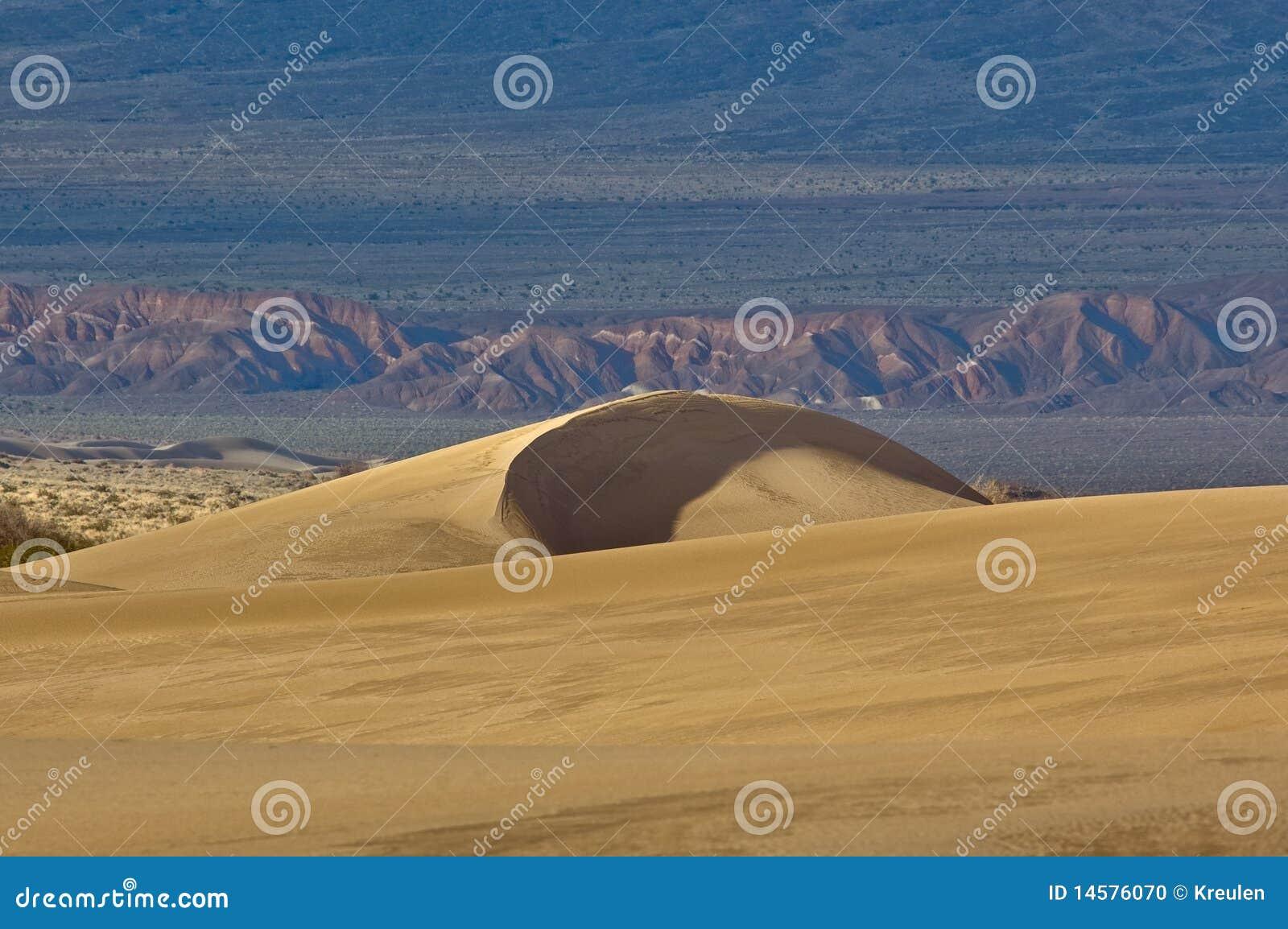 Sand Ridge In Mesquite Flats Stock Photo Image 14576070