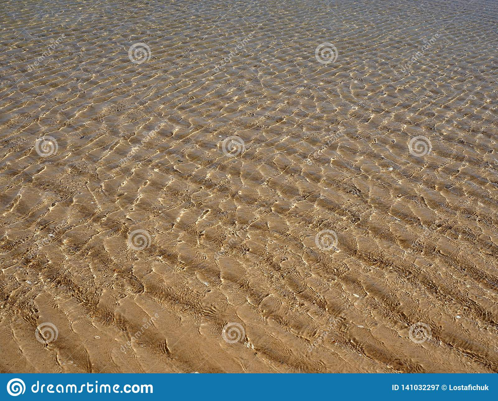 Sand Ripples Caused By Tides At Praia Do Barril Portugal