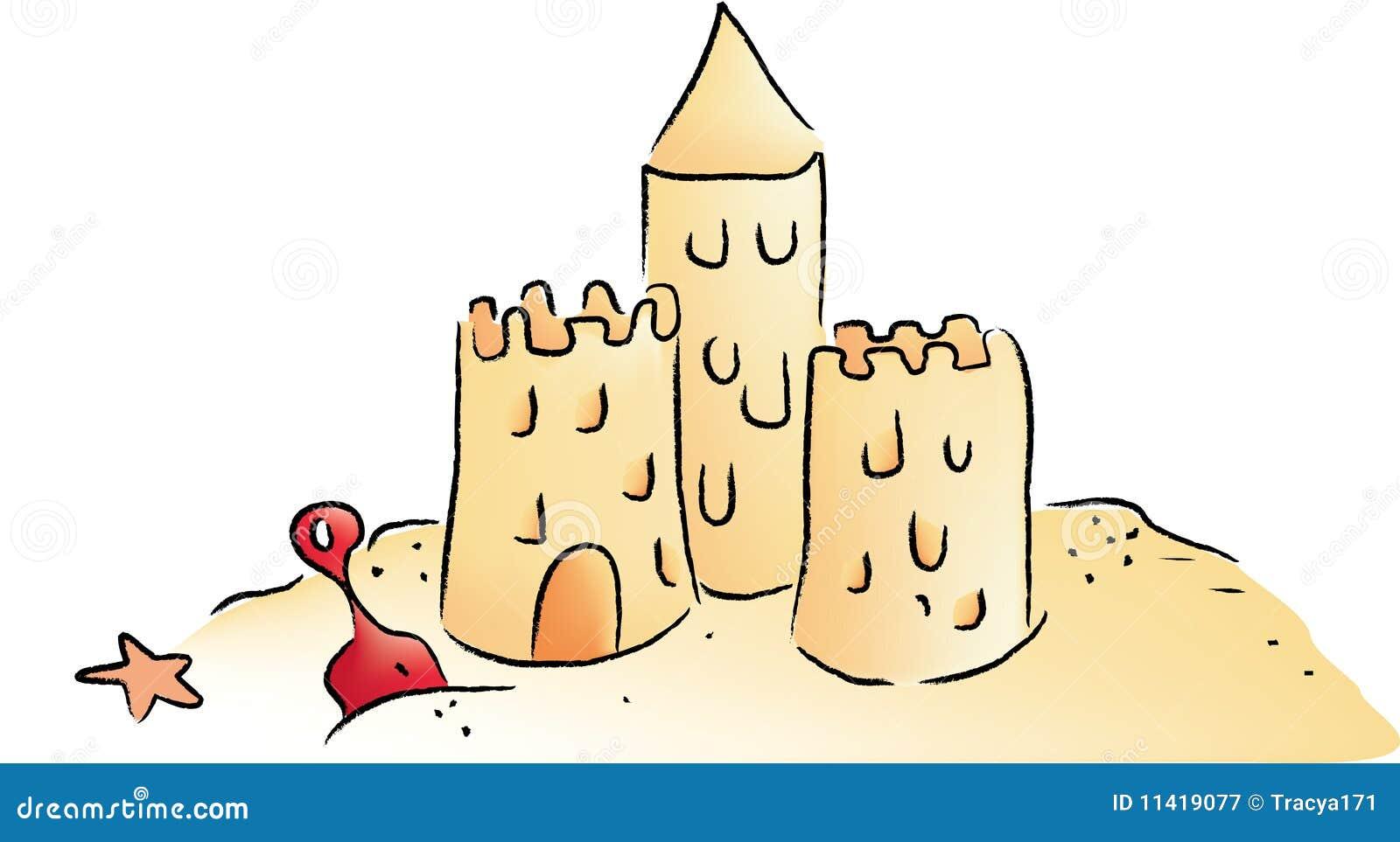 Sandburg clipart  Sand-Schloss vektor abbildung. Illustration von zicklein - 11419077